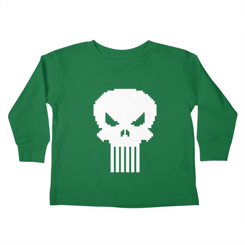 Punisher Classic - Pixel Logo Kids Toddler Longsleeve T-Shirt by Silli Philli Produktionz