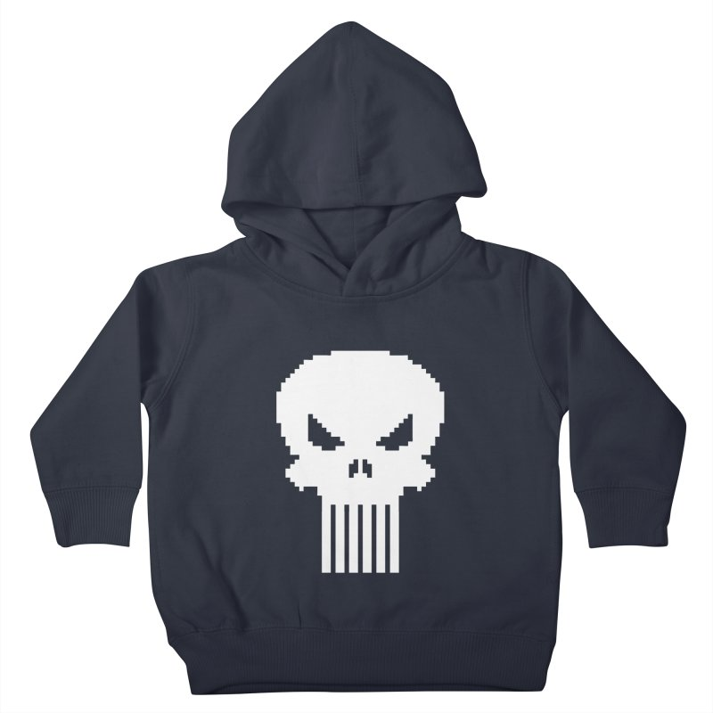 Punisher Classic - Pixel Logo Kids Toddler Pullover Hoody by Silli Philli Produktionz