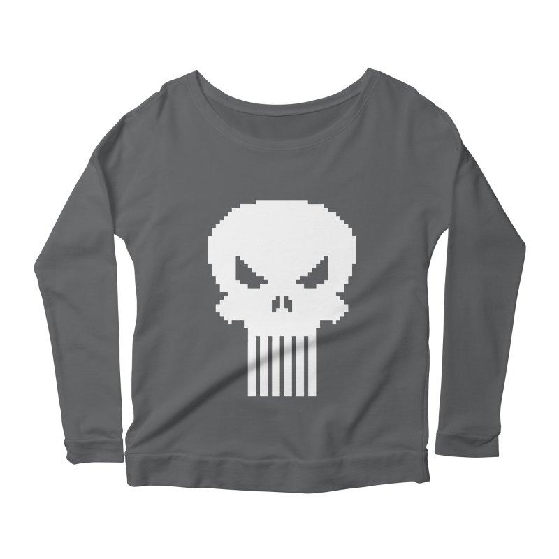 Punisher Classic - Pixel Logo Women's Scoop Neck Longsleeve T-Shirt by Silli Philli Produktionz | Custom Prints