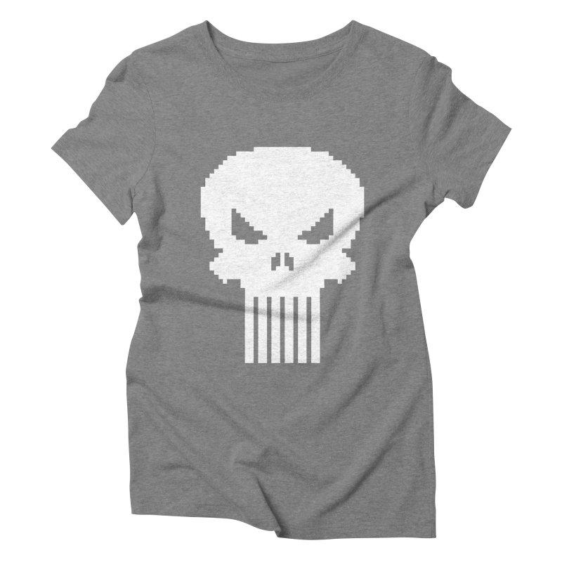 Punisher Classic - Pixel Logo Women's Triblend T-Shirt by Silli Philli Produktionz