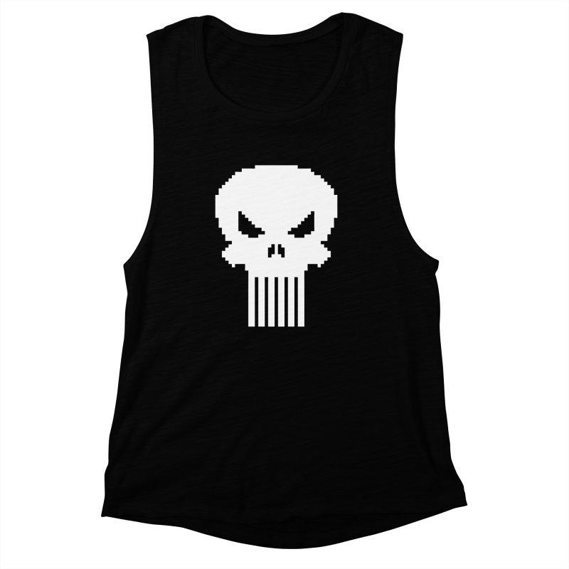 Punisher Classic - Pixel Logo Women's Muscle Tank by Silli Philli Produktionz