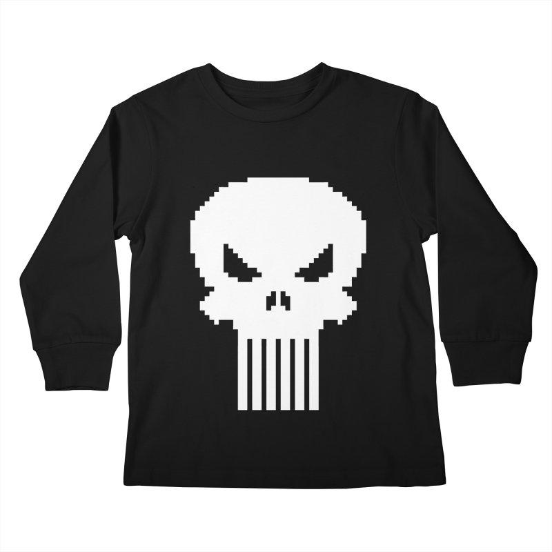 Punisher Classic - Pixel Logo Kids Longsleeve T-Shirt by Silli Philli Produktionz
