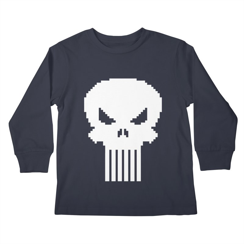 Punisher Classic - Pixel Logo Kids Longsleeve T-Shirt by Silli Philli Produktionz | Custom Prints