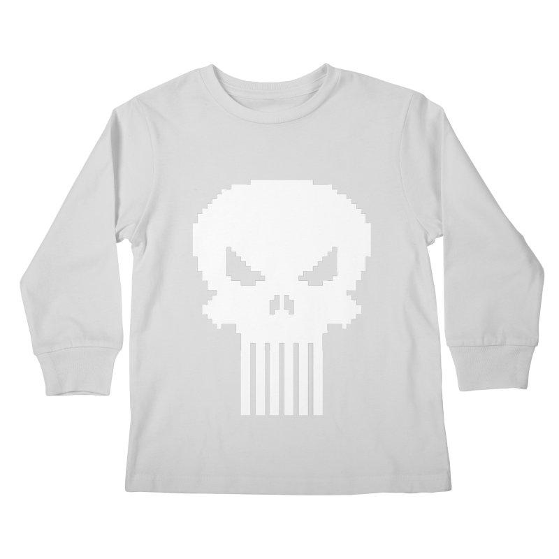 Punisher Classic - Pixel Logo Kids Longsleeve T-Shirt by Silli Philli Produktionz | Custom Prints