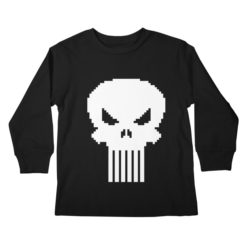 Punisher Classic - Pixel Logo Kids Longsleeve T-Shirt by Silli Philli Produktionz