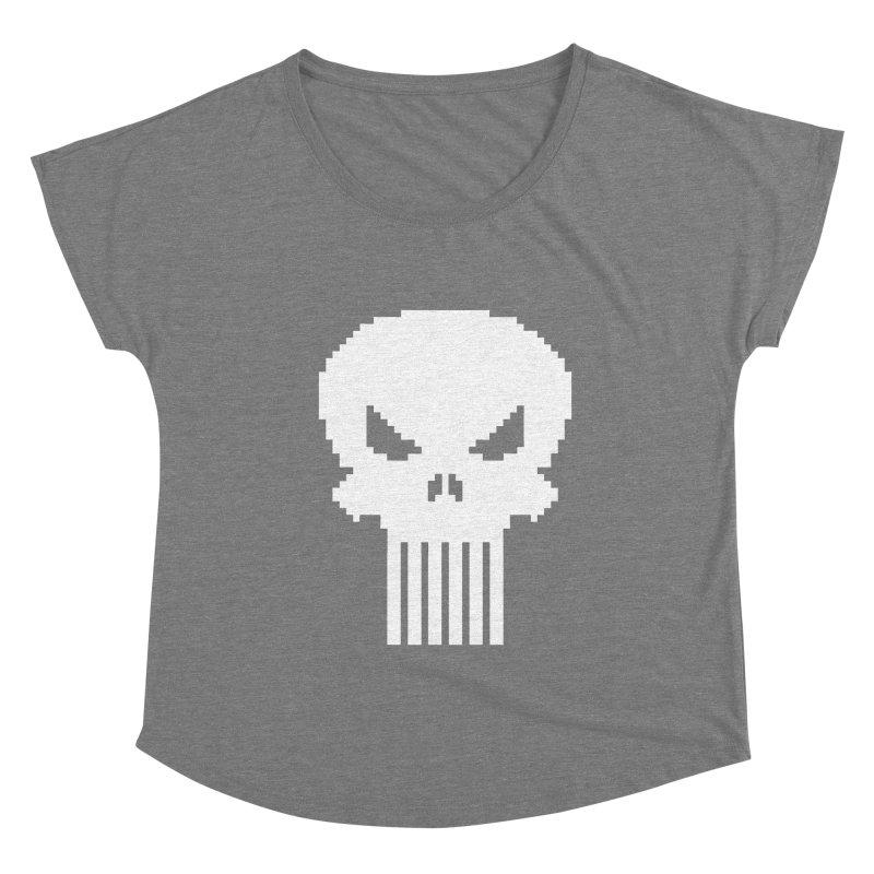 Punisher Classic - Pixel Logo Women's Scoop Neck by Silli Philli Produktionz   Custom Prints
