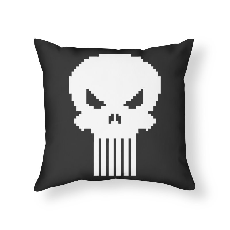 Punisher Classic - Pixel Logo Home Throw Pillow by Silli Philli Produktionz