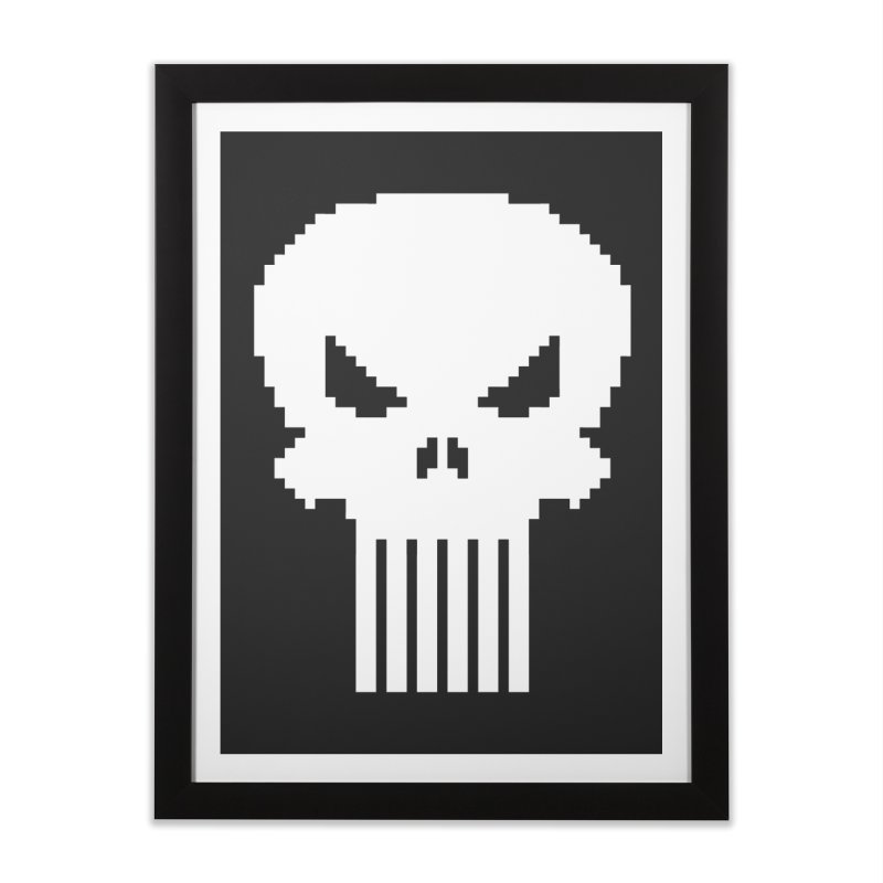 Punisher Classic - Pixel Logo Home Framed Fine Art Print by Silli Philli Produktionz