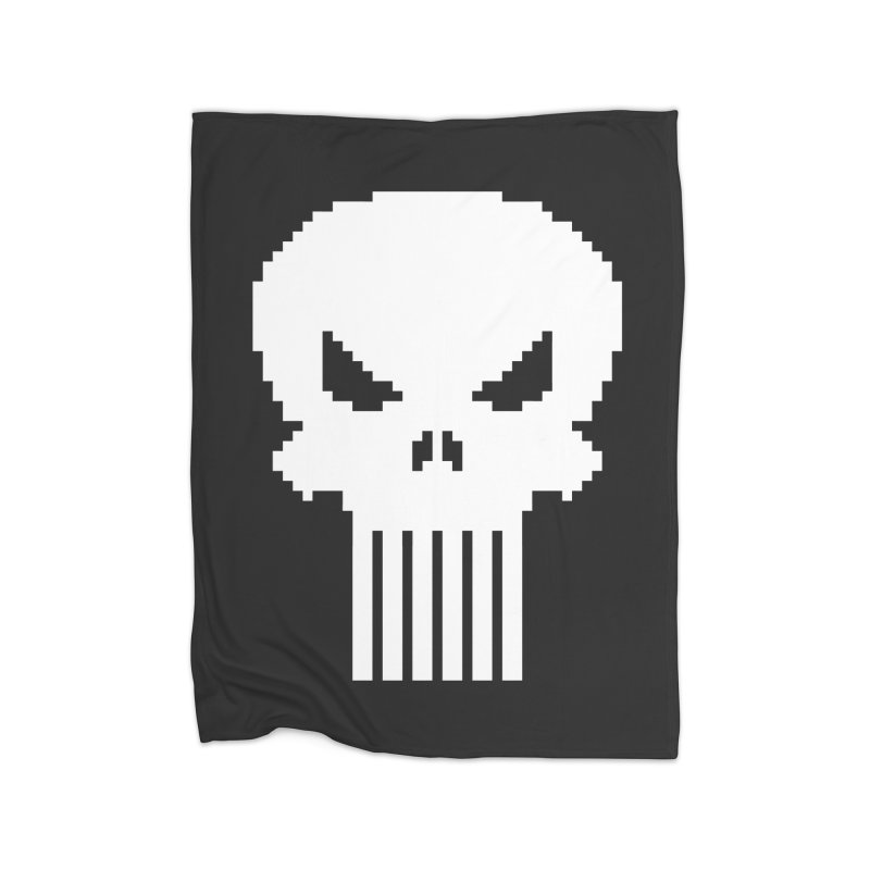Punisher Classic - Pixel Logo Home Fleece Blanket Blanket by Silli Philli Produktionz