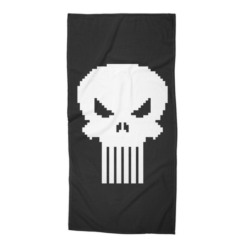 Punisher Classic - Pixel Logo Accessories Beach Towel by Silli Philli Produktionz