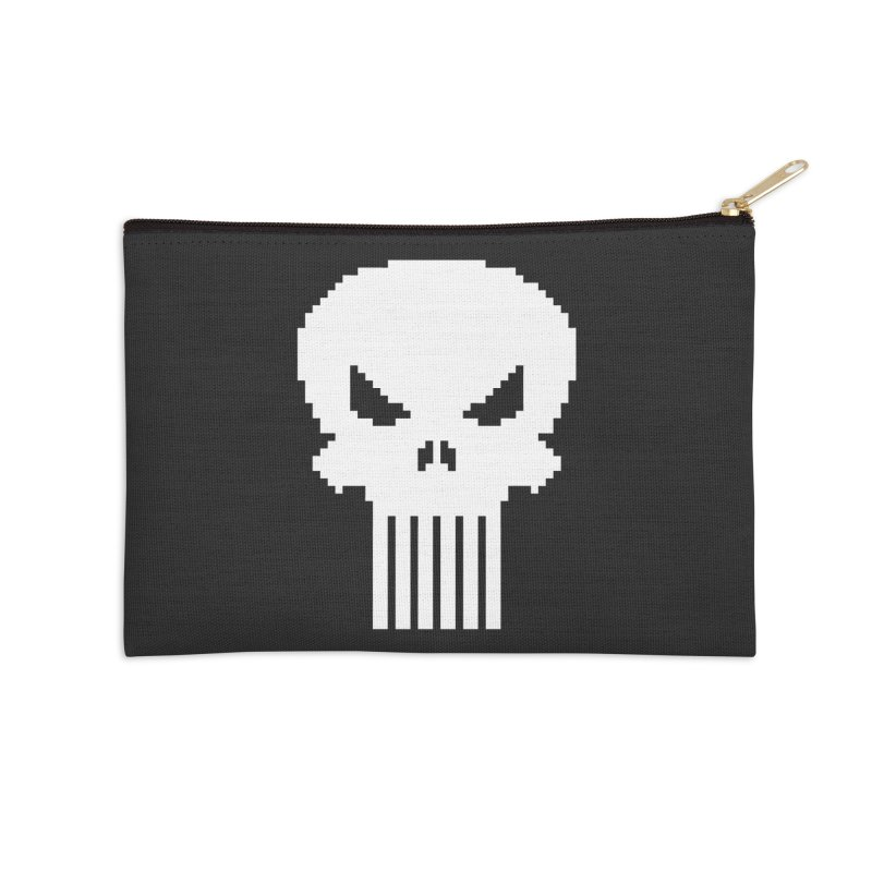 Punisher Classic - Pixel Logo Accessories Zip Pouch by Silli Philli Produktionz
