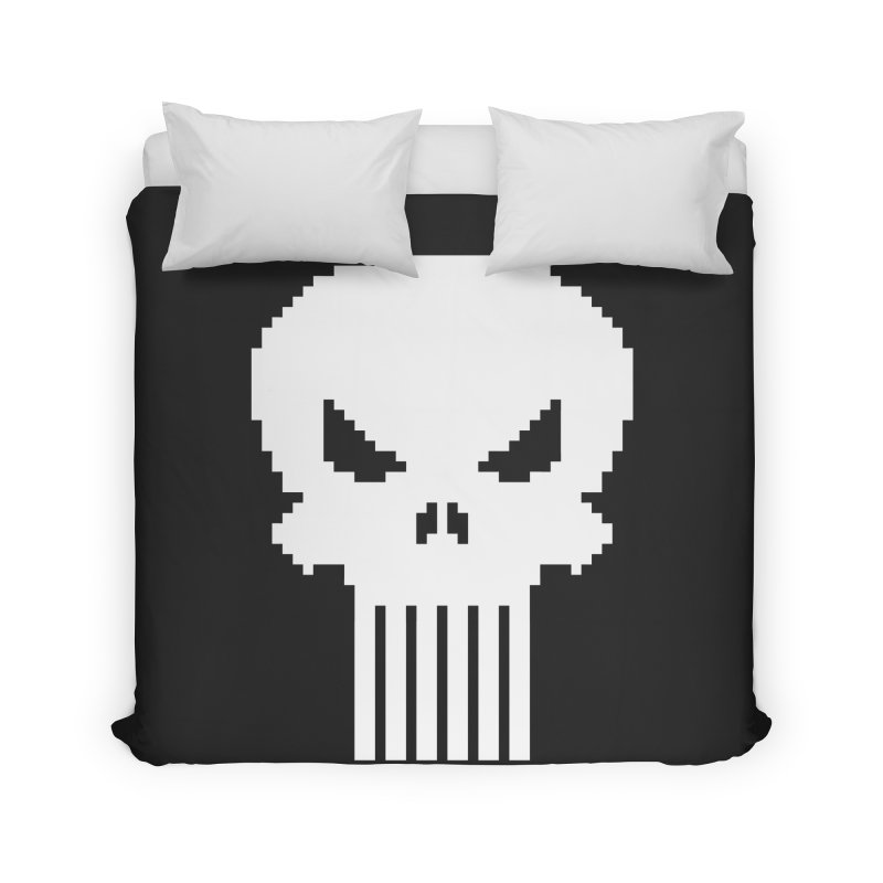 Punisher Classic - Pixel Logo Home Duvet by Silli Philli Produktionz
