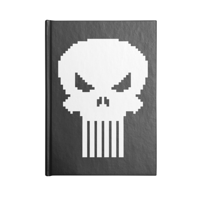 Punisher Classic - Pixel Logo Accessories Notebook by Silli Philli Produktionz