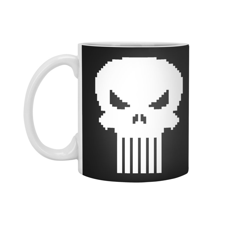 Punisher Classic - Pixel Logo Accessories Mug by Silli Philli Produktionz