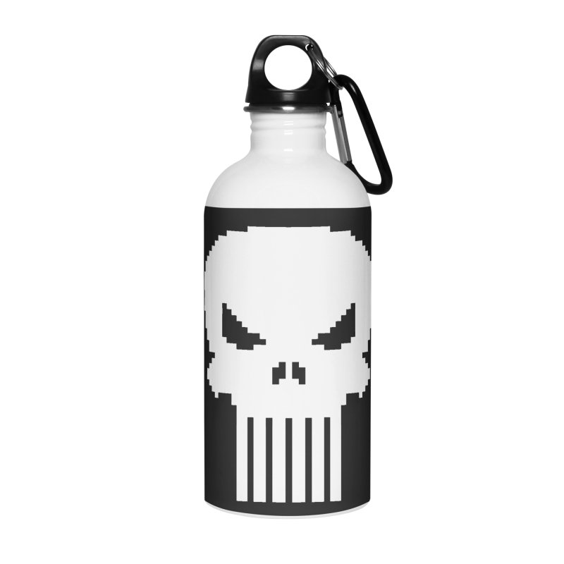 Punisher Classic - Pixel Logo Accessories Water Bottle by Silli Philli Produktionz