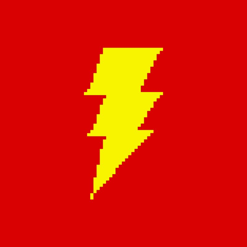 Captain Marvel - Pixel Logo Home Stretched Canvas by Silli Philli Produktionz | Custom Prints
