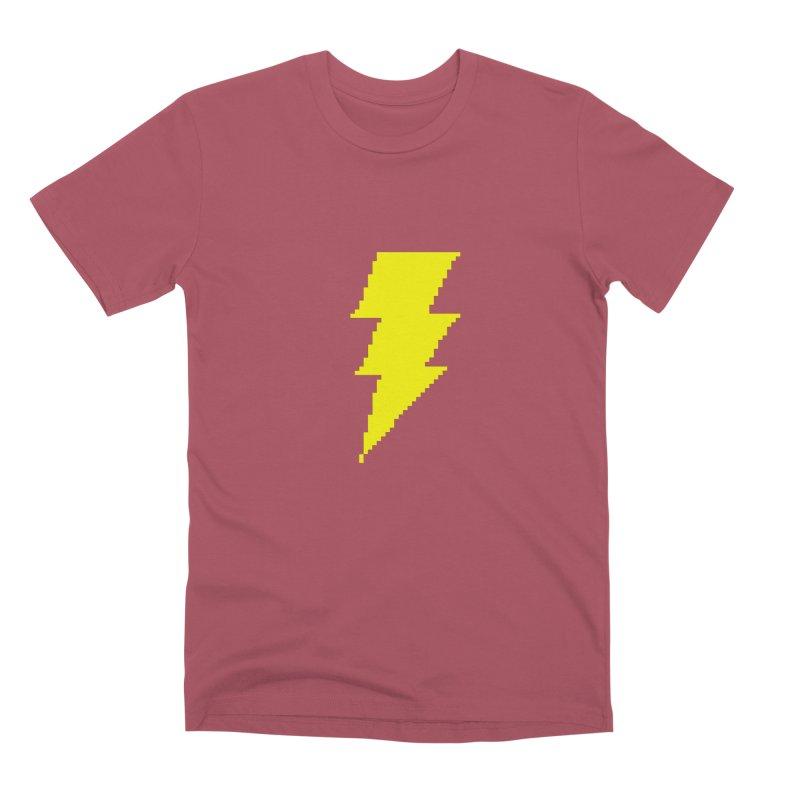 Captain Marvel - Pixel Logo Men's Premium T-Shirt by Silli Philli Produktionz