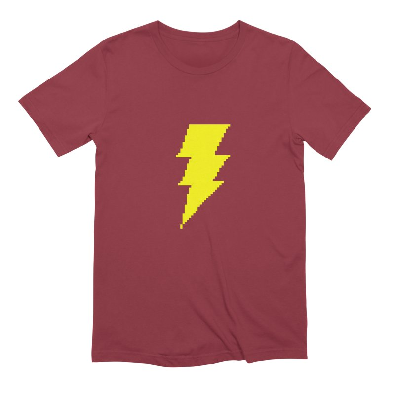 Captain Marvel - Pixel Logo Men's Extra Soft T-Shirt by Silli Philli Produktionz