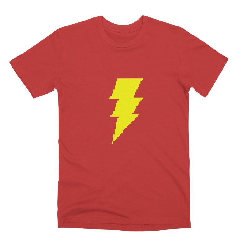 Captain Marvel - Pixel Logo Men's T-Shirt by Silli Philli Produktionz | Custom Prints