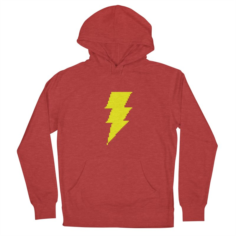 Captain Marvel - Pixel Logo Men's French Terry Pullover Hoody by Silli Philli Produktionz