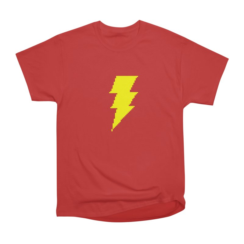 Captain Marvel - Pixel Logo Men's Heavyweight T-Shirt by Silli Philli Produktionz