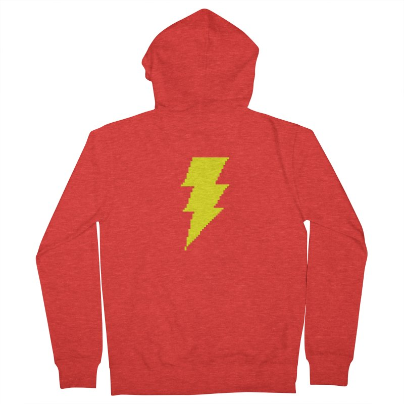 Captain Marvel - Pixel Logo Men's Zip-Up Hoody by Silli Philli Produktionz | Custom Prints