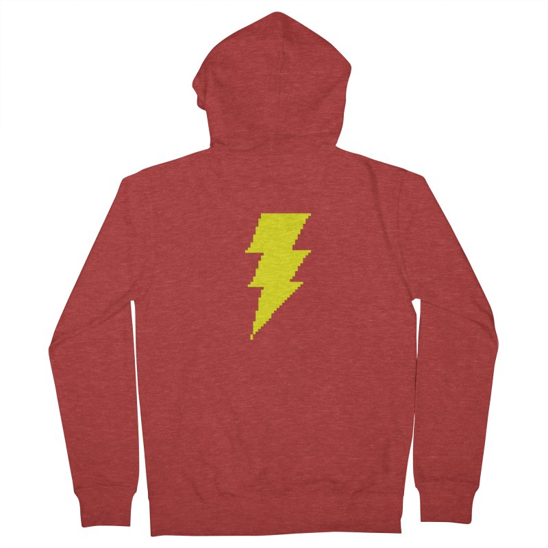 Captain Marvel - Pixel Logo Men's French Terry Zip-Up Hoody by Silli Philli Produktionz | Custom Prints