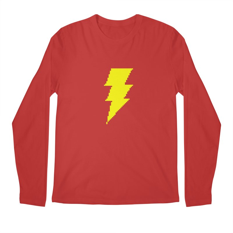 Captain Marvel - Pixel Logo Men's Regular Longsleeve T-Shirt by Silli Philli Produktionz
