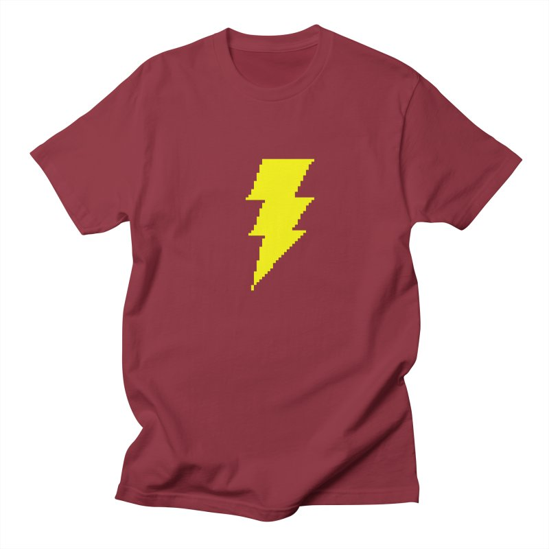 Captain Marvel - Pixel Logo Men's Regular T-Shirt by Silli Philli Produktionz