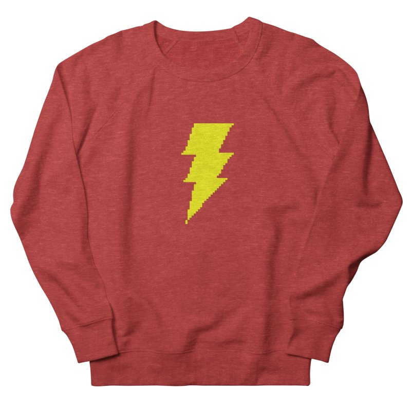 Captain Marvel - Pixel Logo Men's French Terry Sweatshirt by Silli Philli Produktionz
