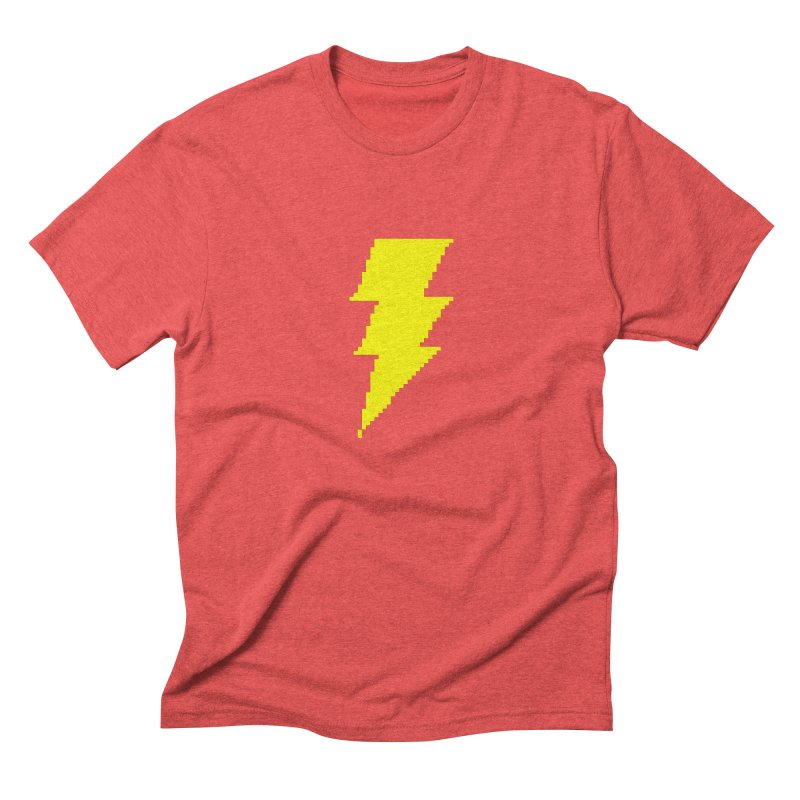Captain Marvel - Pixel Logo Men's Triblend T-Shirt by Silli Philli Produktionz
