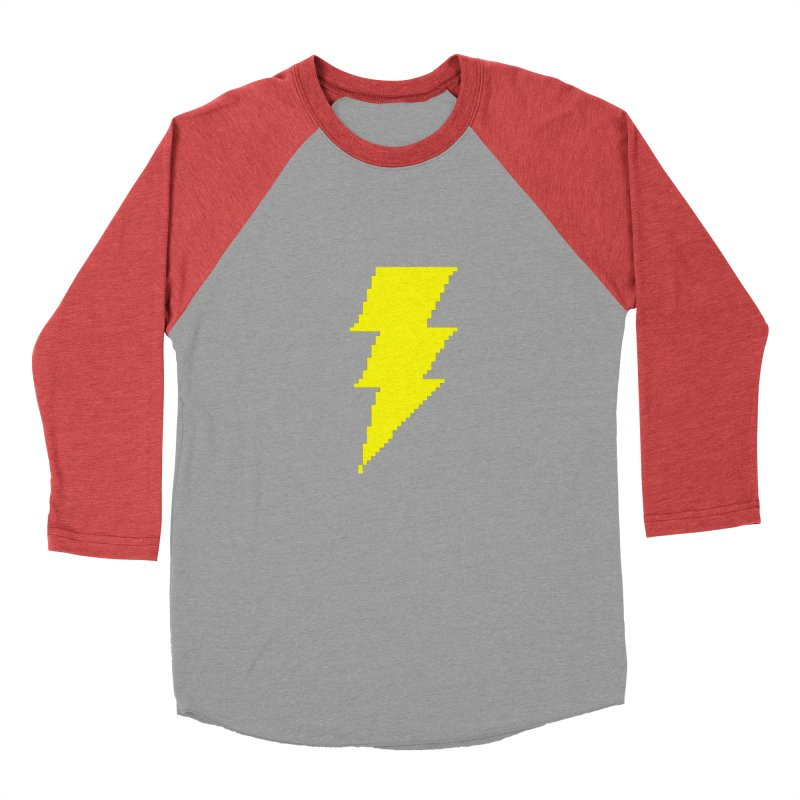 Captain Marvel - Pixel Logo Women's Baseball Triblend Longsleeve T-Shirt by Silli Philli Produktionz