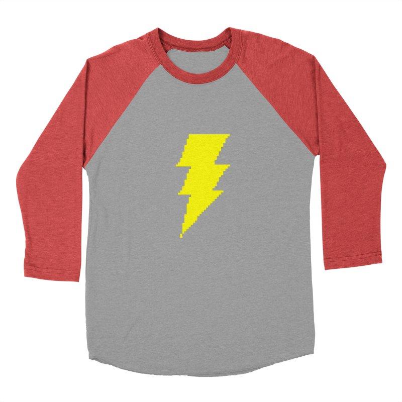 Captain Marvel - Pixel Logo Men's Baseball Triblend Longsleeve T-Shirt by Silli Philli Produktionz