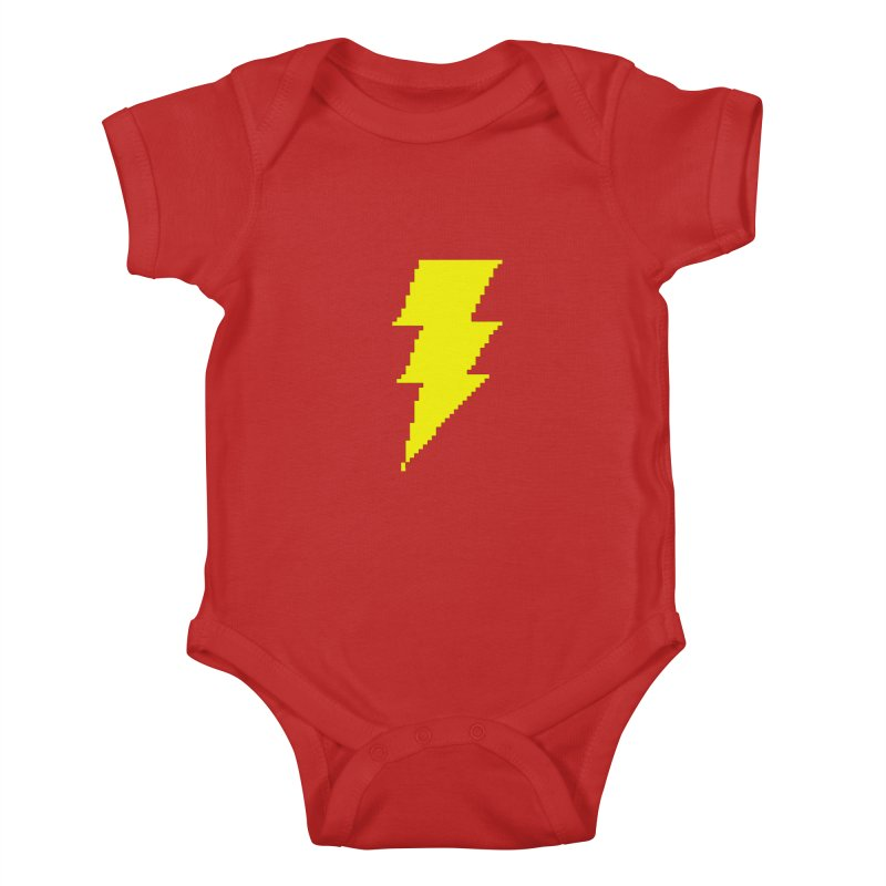 Captain Marvel - Pixel Logo Kids Baby Bodysuit by Silli Philli Produktionz