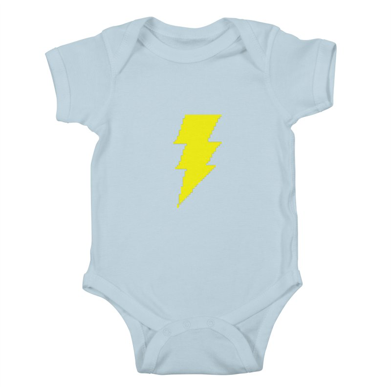 Captain Marvel - Pixel Logo Kids Baby Bodysuit by Silli Philli Produktionz