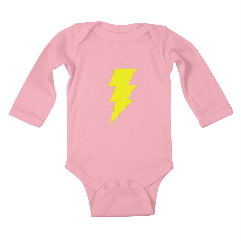 Captain Marvel - Pixel Logo Kids Baby Longsleeve Bodysuit by Silli Philli Produktionz