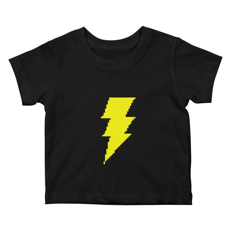 Captain Marvel - Pixel Logo Kids Baby T-Shirt by Silli Philli Produktionz