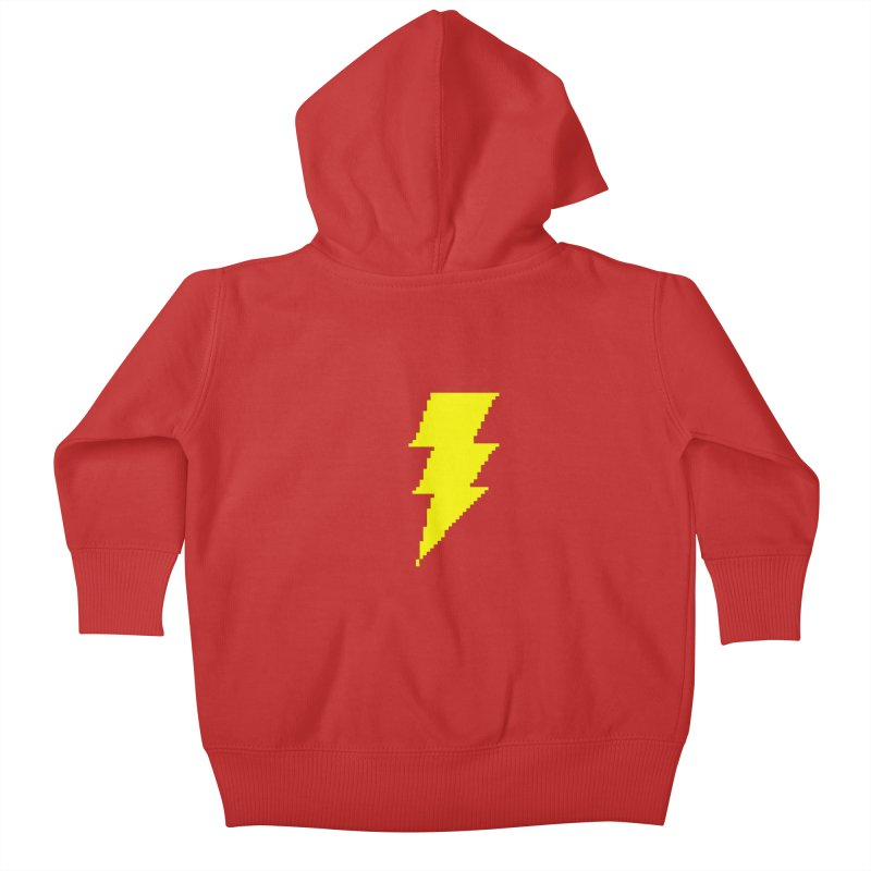 Captain Marvel - Pixel Logo Kids Baby Zip-Up Hoody by Silli Philli Produktionz