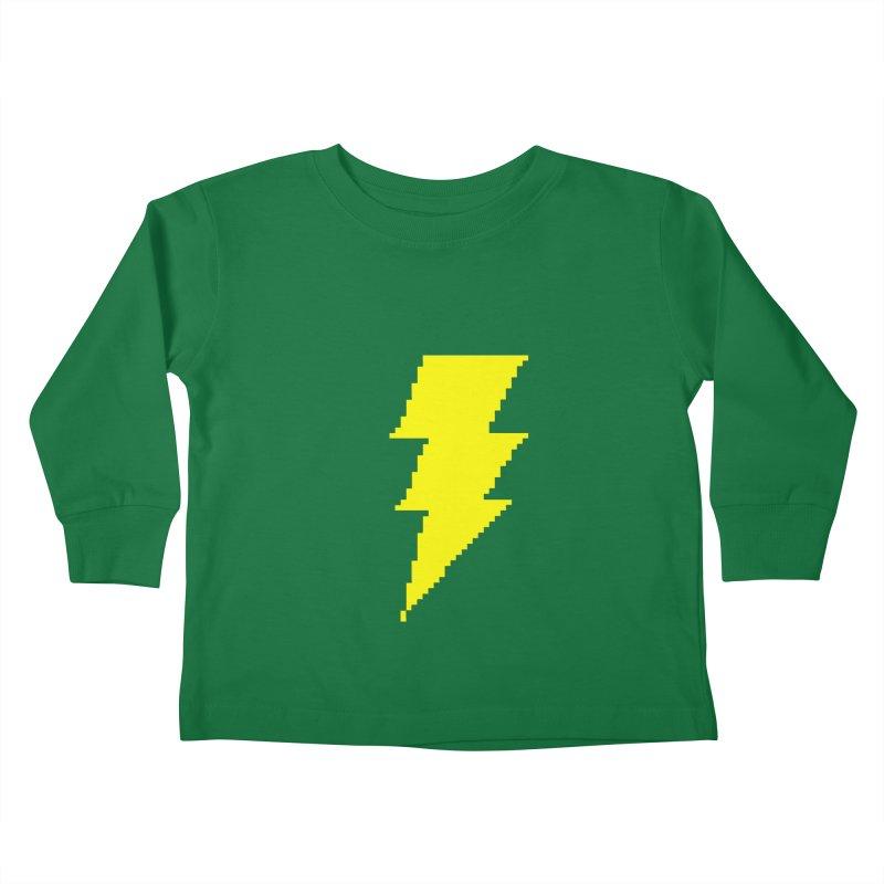 Captain Marvel - Pixel Logo Kids Toddler Longsleeve T-Shirt by Silli Philli Produktionz