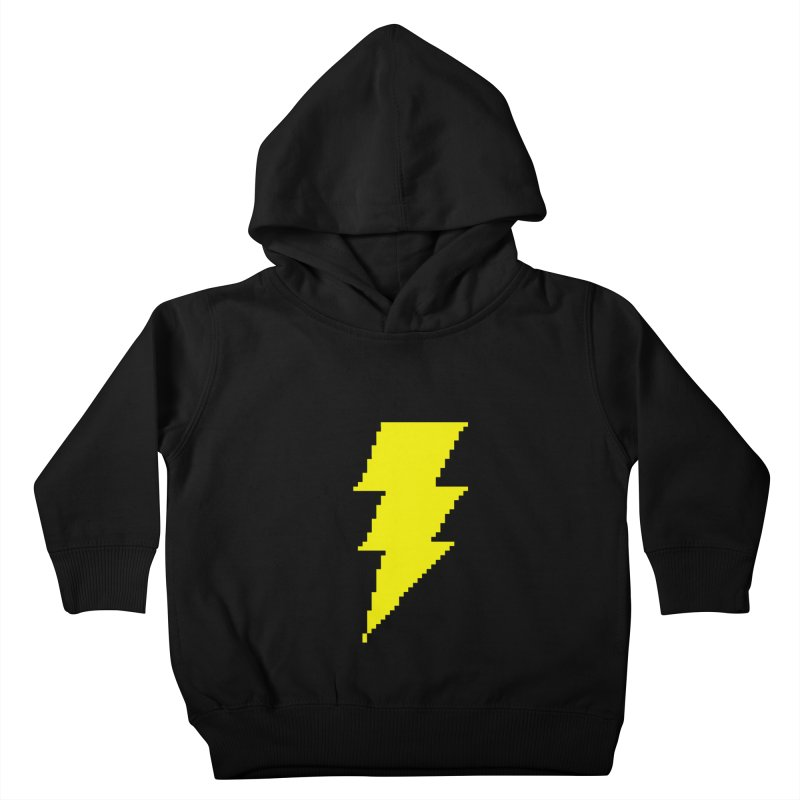 Captain Marvel - Pixel Logo Kids Toddler Pullover Hoody by Silli Philli Produktionz