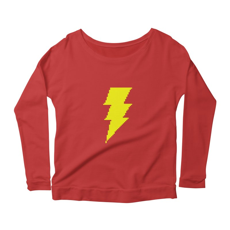 Captain Marvel - Pixel Logo Women's Scoop Neck Longsleeve T-Shirt by Silli Philli Produktionz