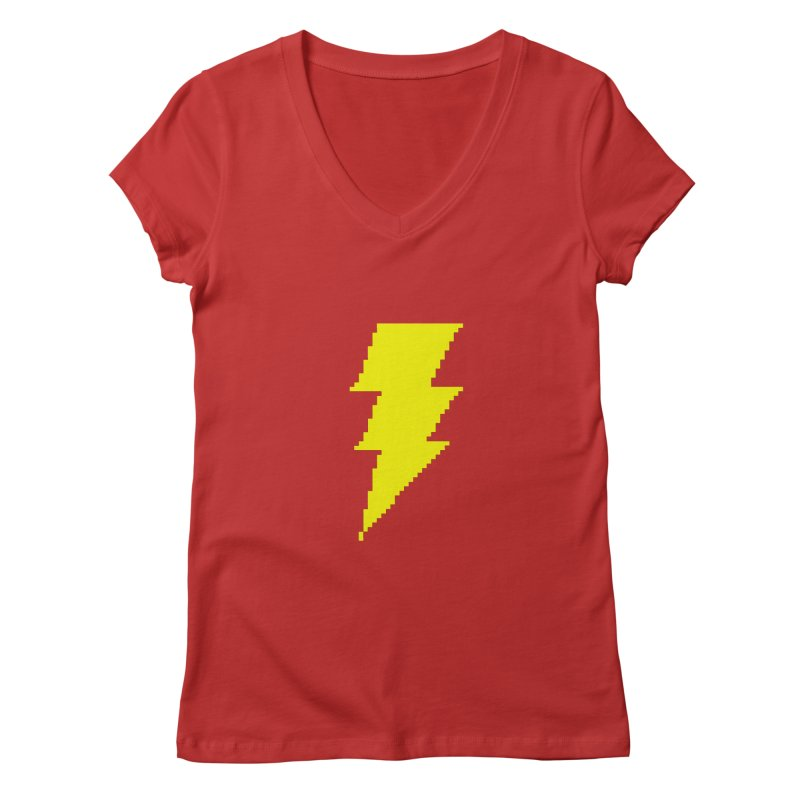 Captain Marvel - Pixel Logo Women's V-Neck by Silli Philli Produktionz | Custom Prints