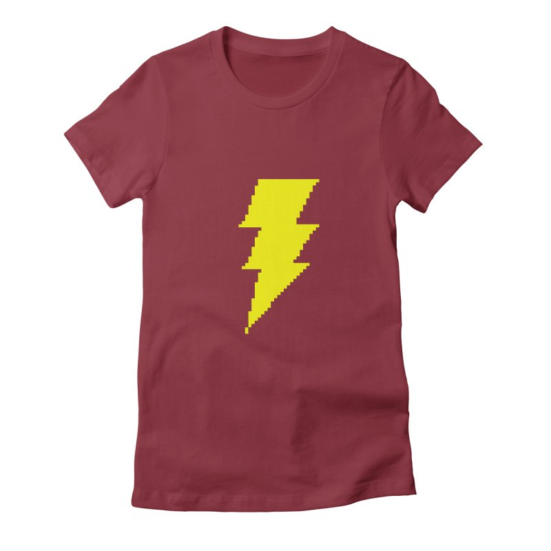 Captain Marvel - Pixel Logo Women's Fitted T-Shirt by Silli Philli Produktionz