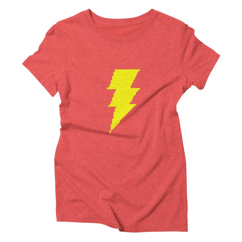 Captain Marvel - Pixel Logo Women's Triblend T-Shirt by Silli Philli Produktionz