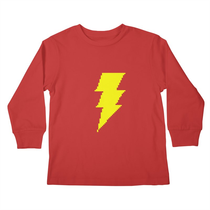 Captain Marvel - Pixel Logo Kids Longsleeve T-Shirt by Silli Philli Produktionz