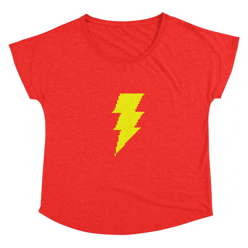 Captain Marvel - Pixel Logo Women's Scoop Neck by Silli Philli Produktionz | Custom Prints