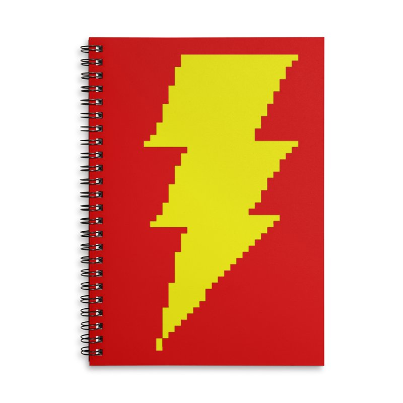Captain Marvel - Pixel Logo Accessories Lined Spiral Notebook by Silli Philli Produktionz