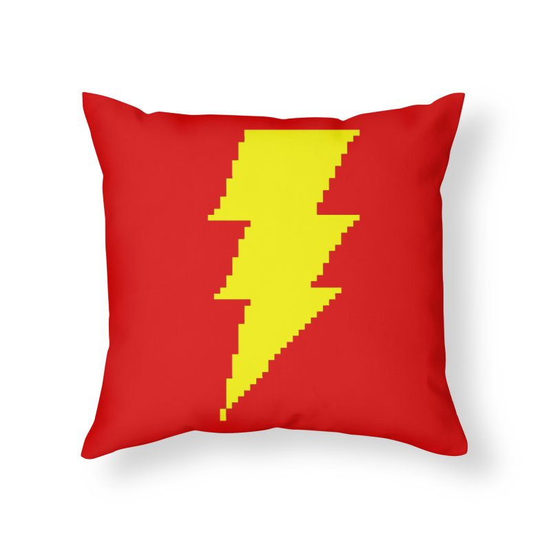 Captain Marvel - Pixel Logo Home Throw Pillow by Silli Philli Produktionz