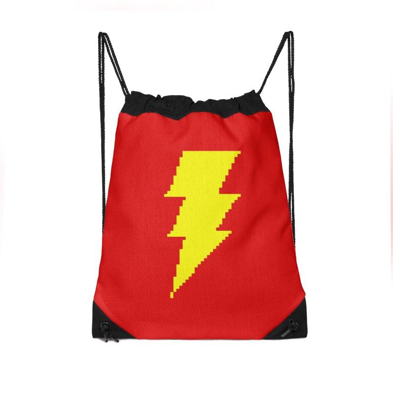 Captain Marvel - Pixel Logo Accessories Drawstring Bag Bag by Silli Philli Produktionz