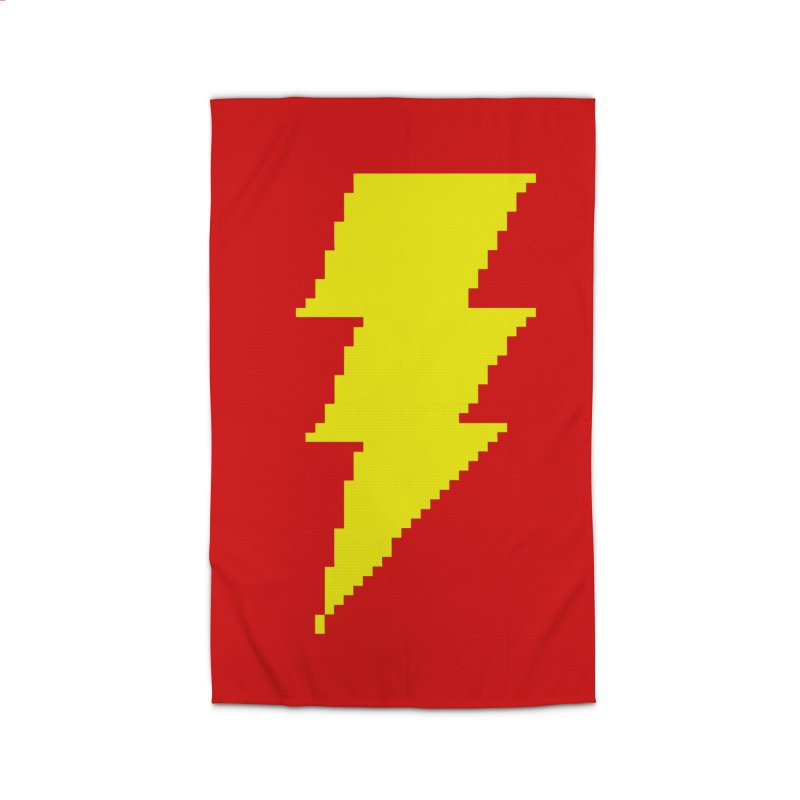 Captain Marvel - Pixel Logo Home Rug by Silli Philli Produktionz